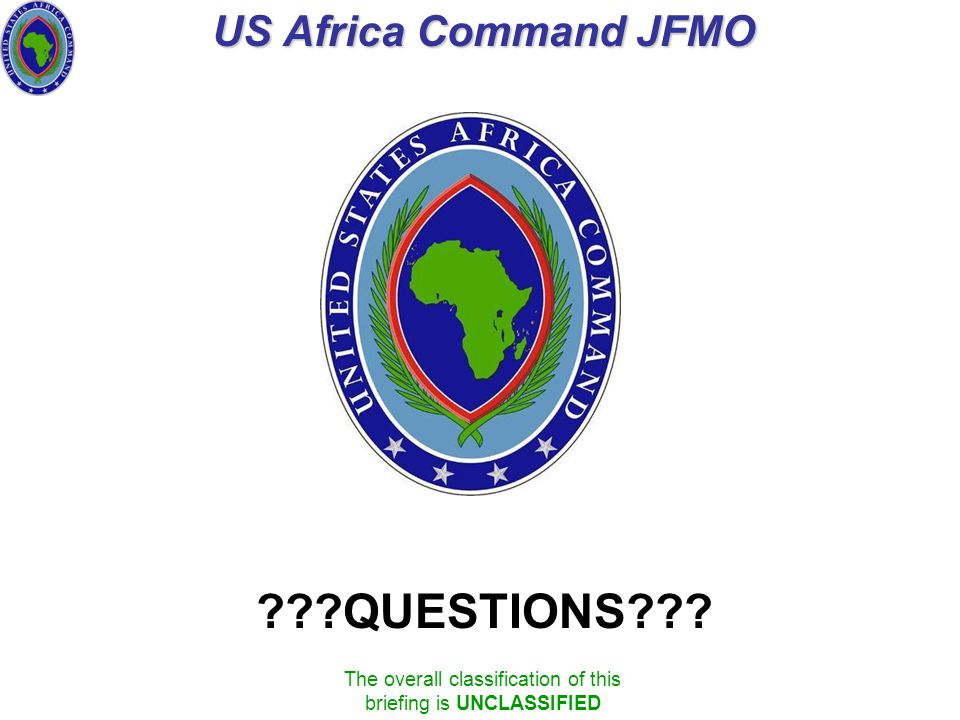 US Africa Command JFMO QUESTIONS