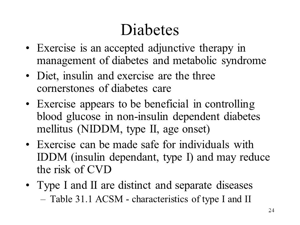 Diabetes Exercise is an accepted adjunctive therapy in management of diabetes and metabolic syndrome.