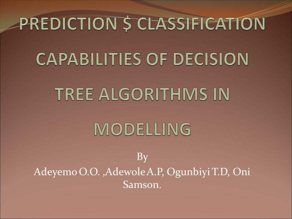 By Adeyemo O.O. ,Adewole A.P, Ogunbiyi T.D, Oni Samson.