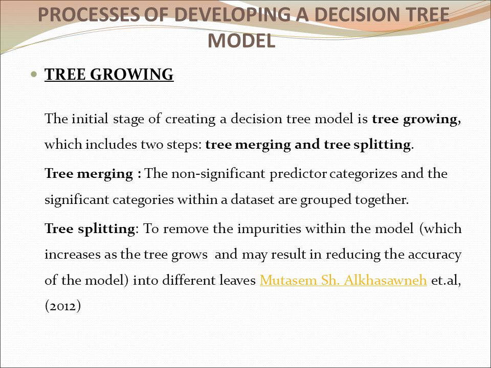 PROCESSES OF DEVELOPING A DECISION TREE MODEL