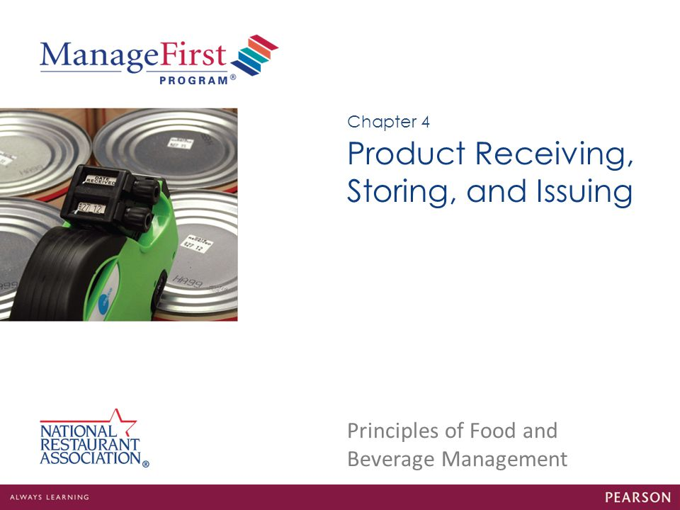 Product Receiving, Storing, and Issuing