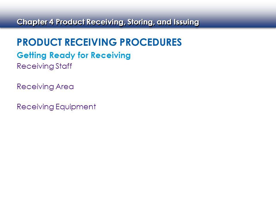 Product Receiving Procedures