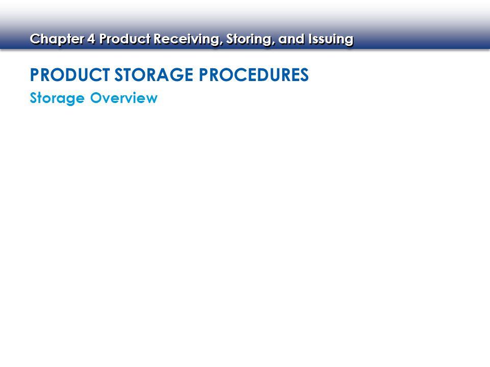 Product Storage Procedures
