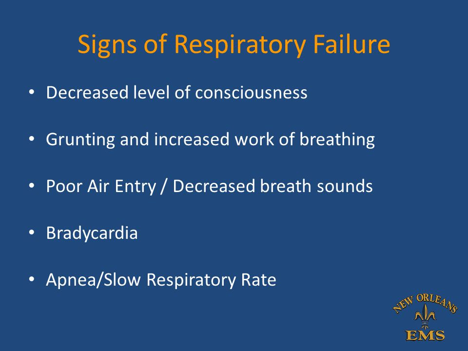Signs of Respiratory Failure