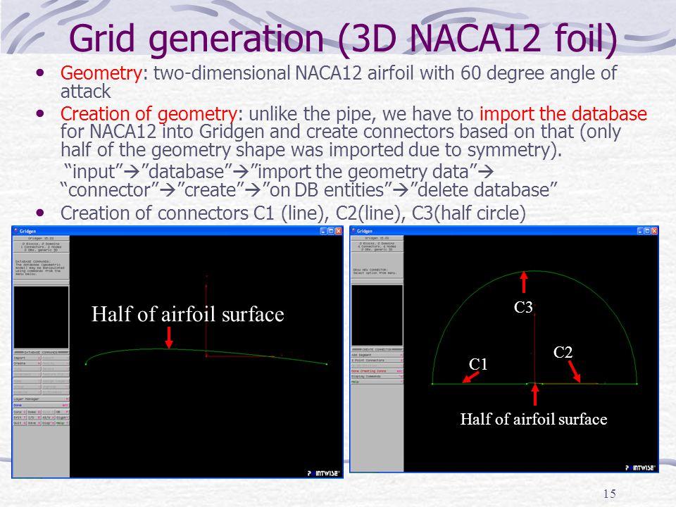 Grid generation (3D NACA12 foil)