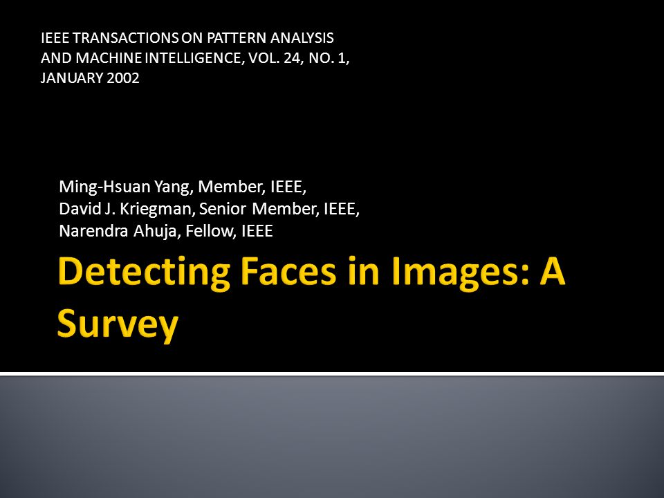 Detecting Faces in Images: A Survey