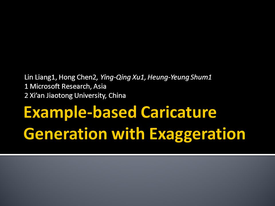 Example-based Caricature Generation with Exaggeration