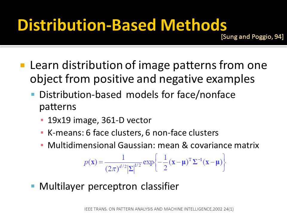 Distribution-Based Methods