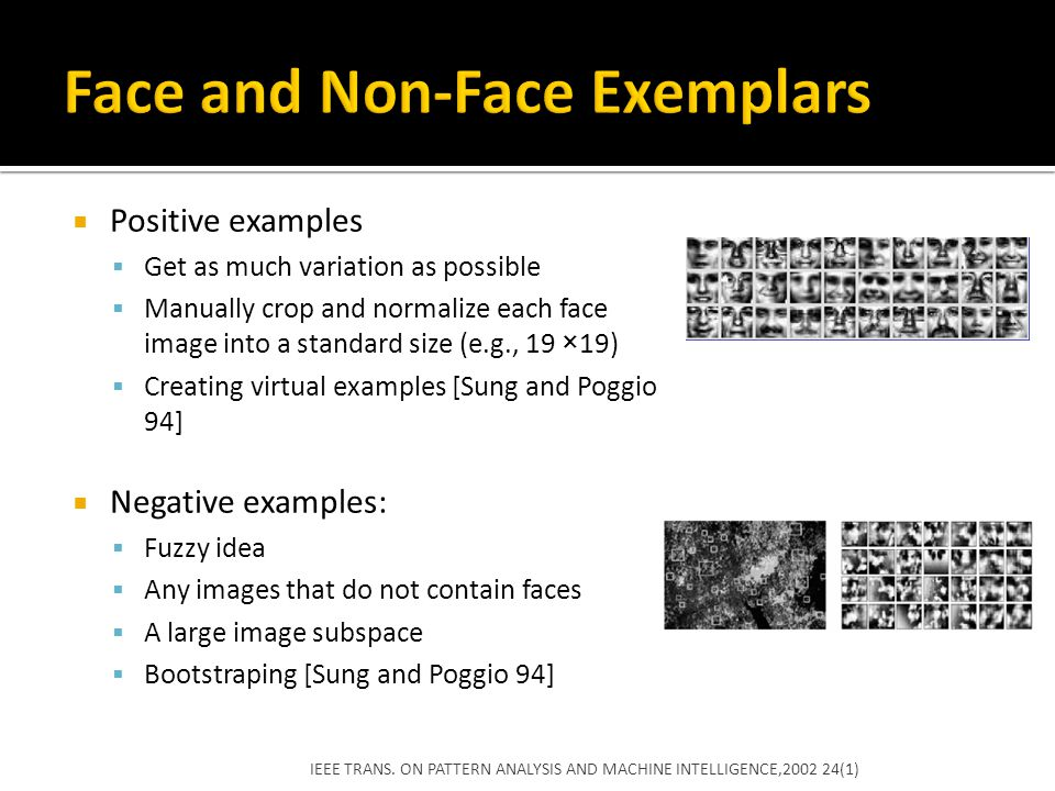 Face and Non-Face Exemplars