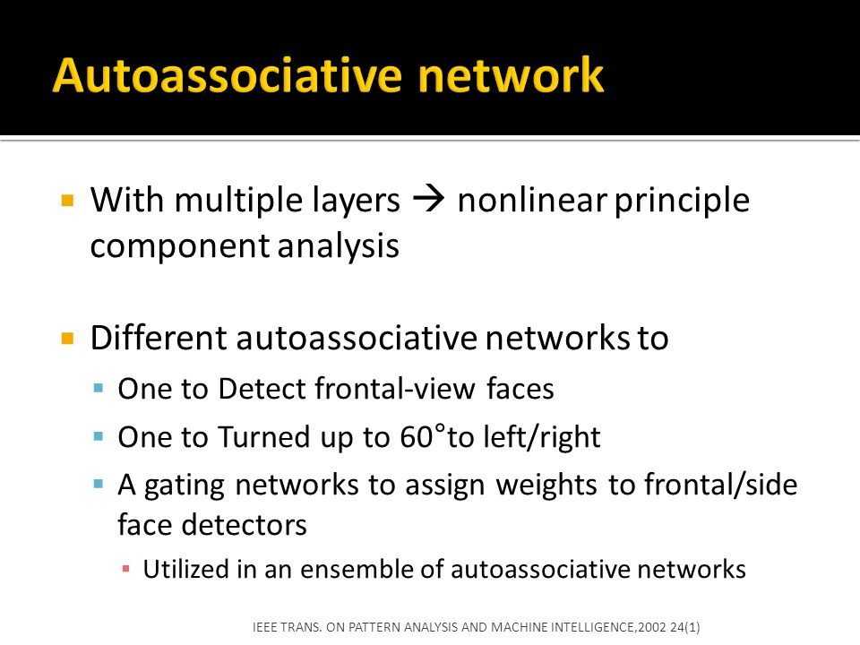 Autoassociative network