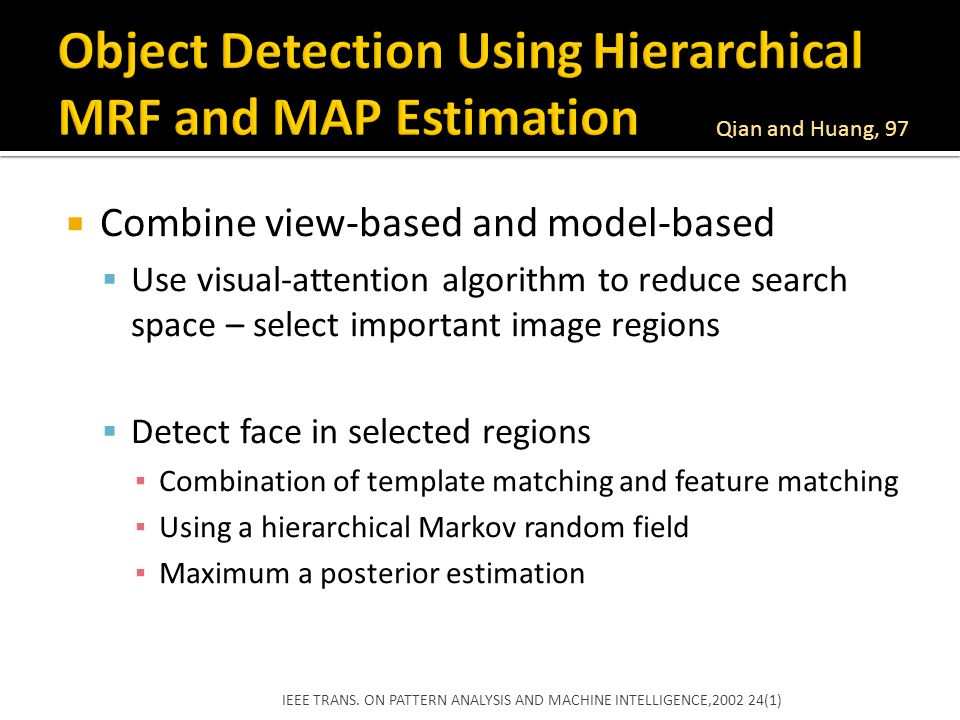 Object Detection Using Hierarchical MRF and MAP Estimation