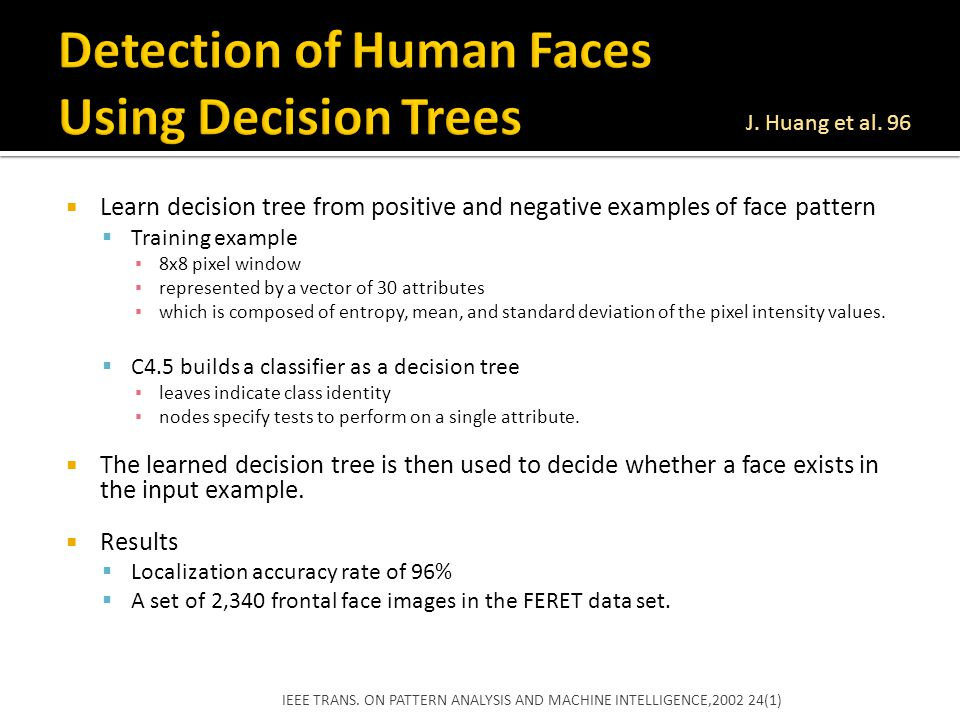 Detection of Human Faces Using Decision Trees