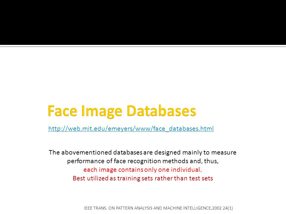 Face Image Databases http://web.mit.edu/emeyers/www/face_databases.html.