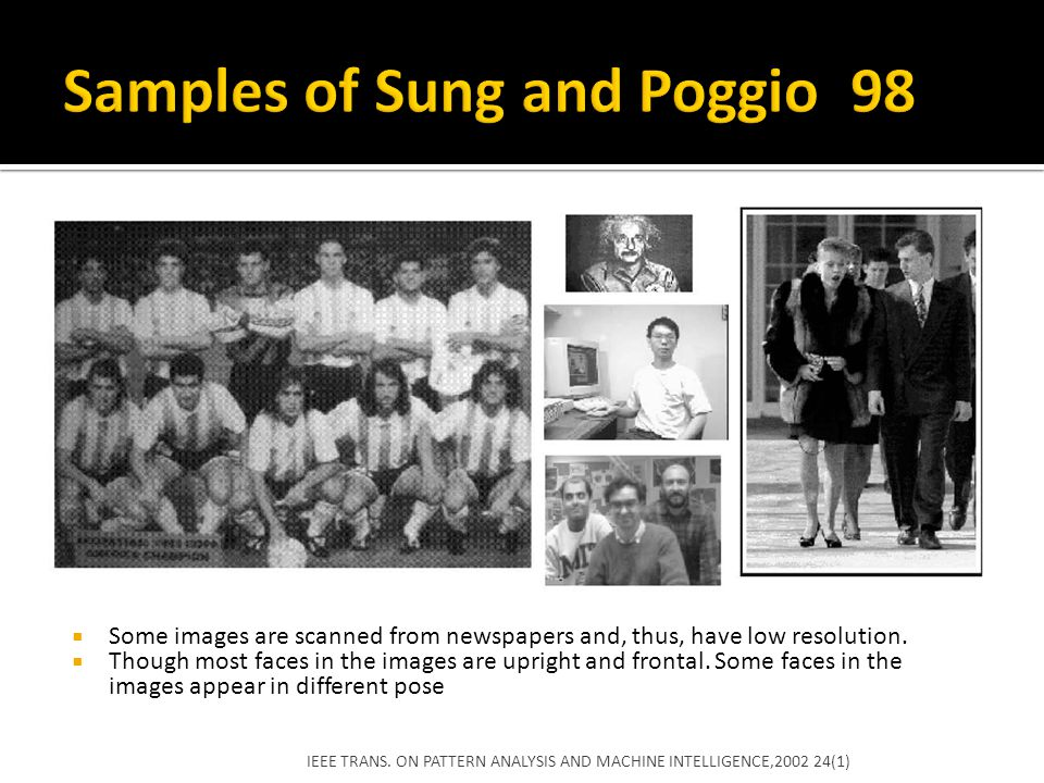 Samples of Sung and Poggio 98