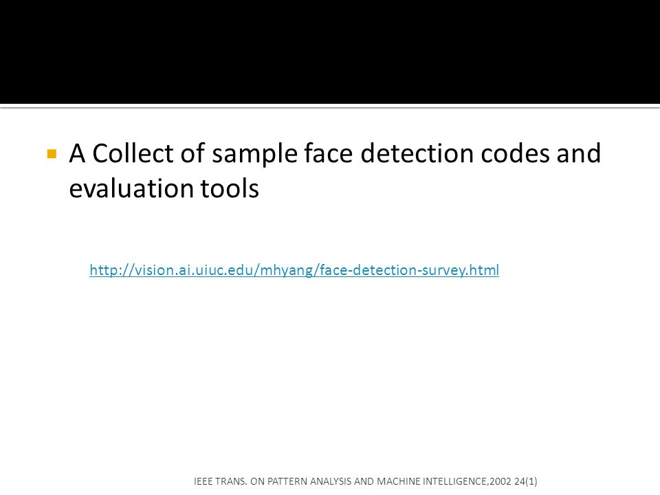A Collect of sample face detection codes and evaluation tools