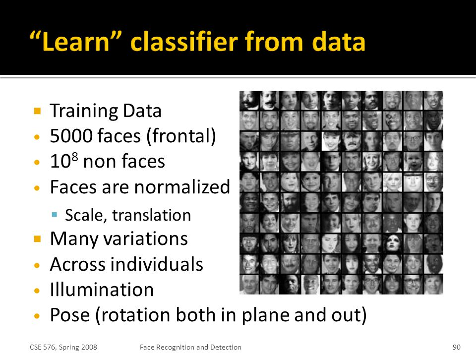 Learn classifier from data