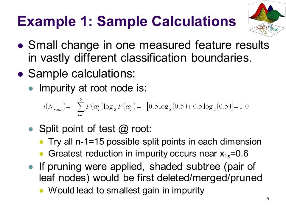 Example 1: Sample Calculations