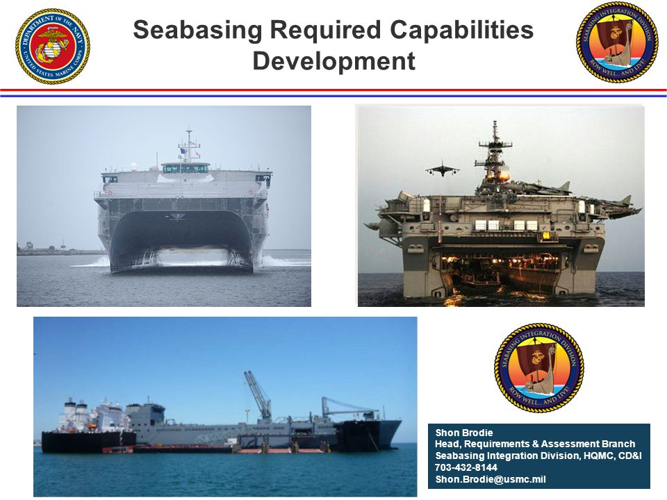 Seabasing Required Capabilities Development
