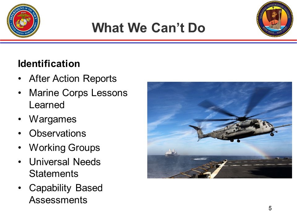 What We Can't Do Identification After Action Reports