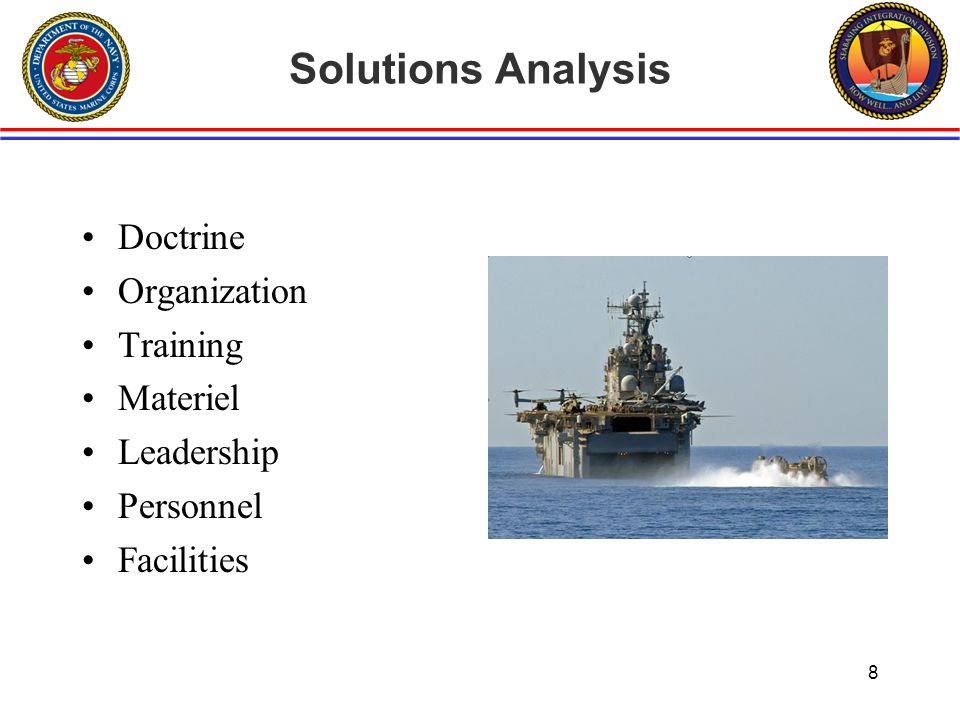 Solutions Analysis Doctrine Organization Training Materiel Leadership