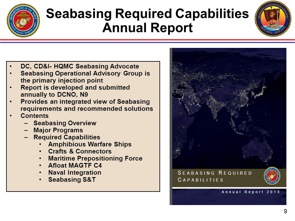 Seabasing Required Capabilities Annual Report