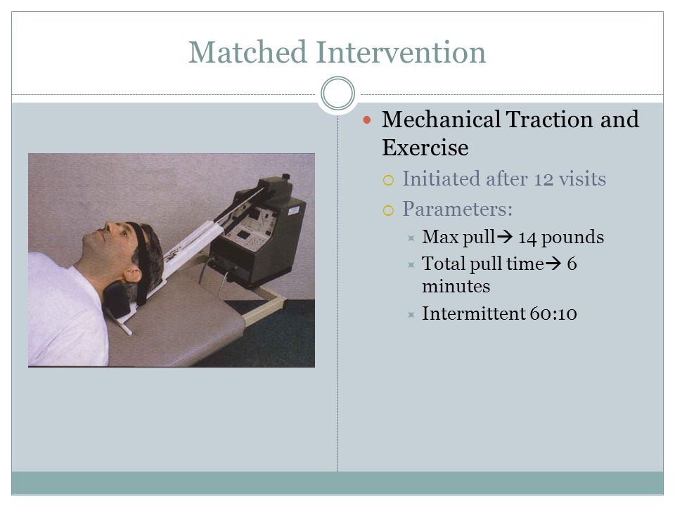 Matched Intervention Mechanical Traction and Exercise