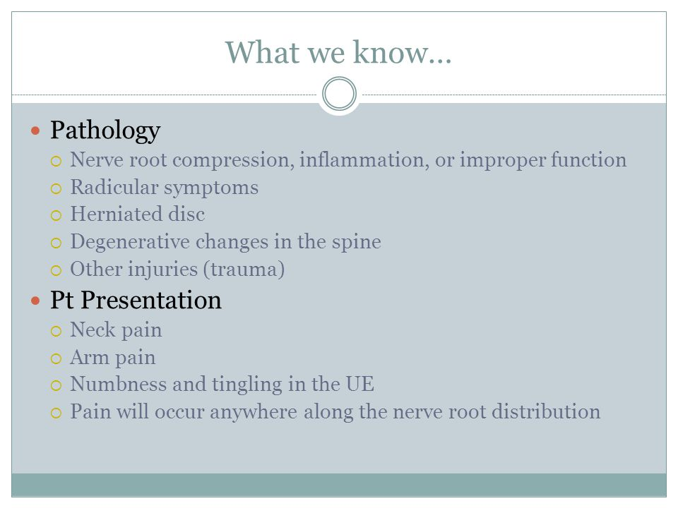What we know… Pathology Pt Presentation