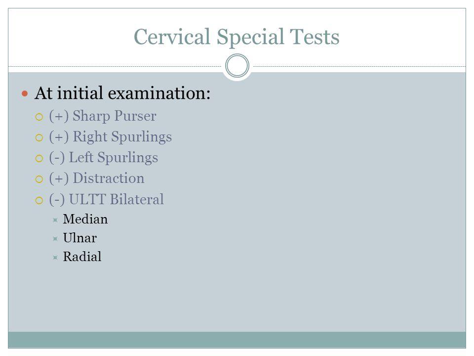 Cervical Special Tests