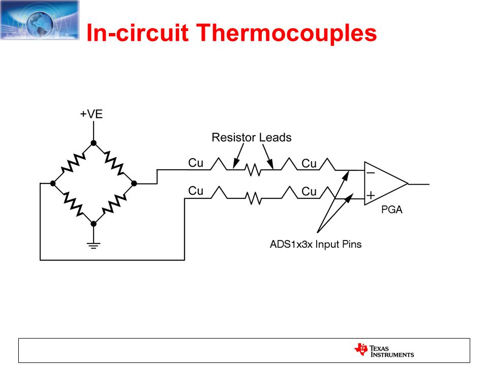 In-circuit Thermocouples