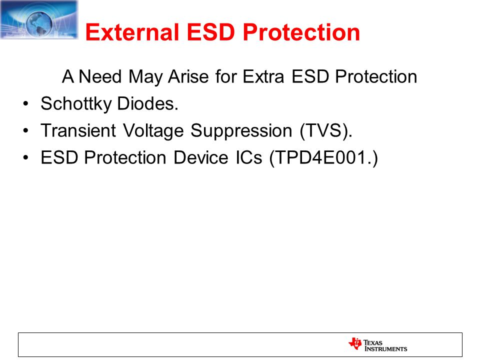 External ESD Protection