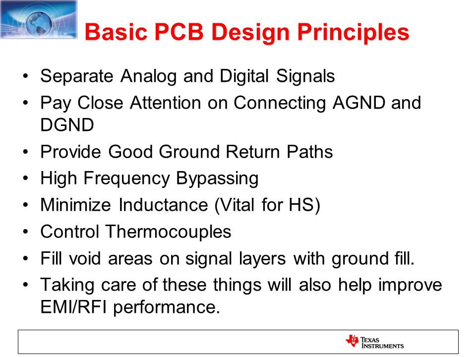 Basic PCB Design Principles