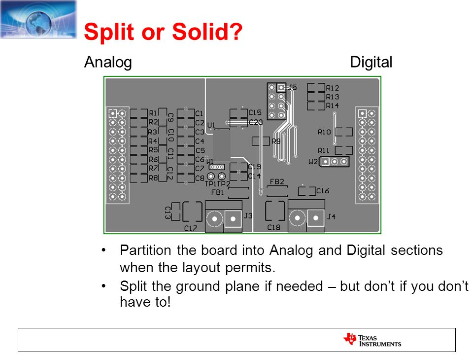 Split or Solid Analog Digital