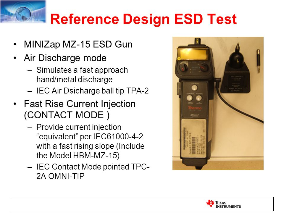 Reference Design ESD Test