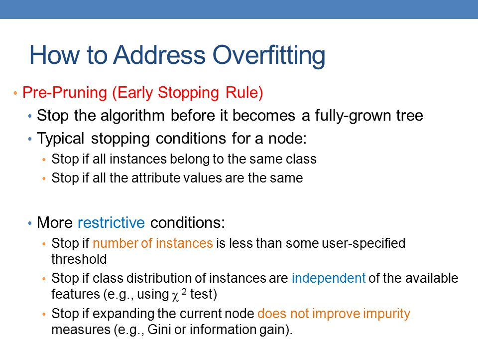 How to Address Overfitting