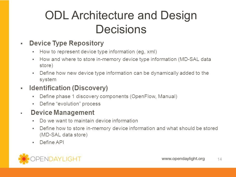ODL Architecture and Design Decisions