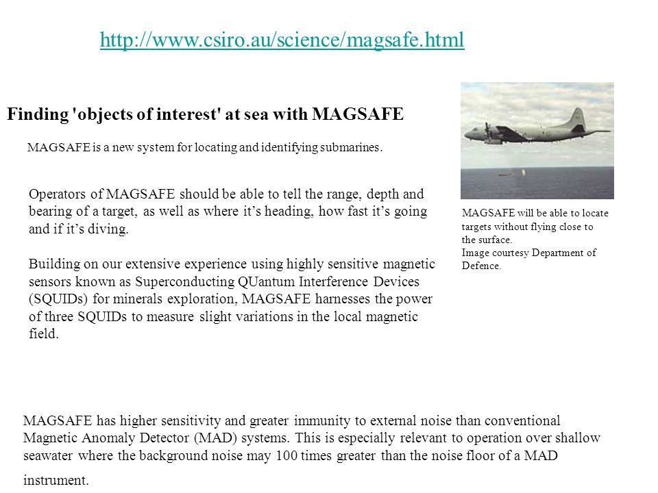 Finding objects of interest at sea with MAGSAFE