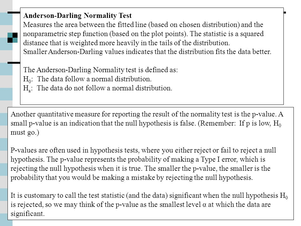 Anderson-Darling Normality Test