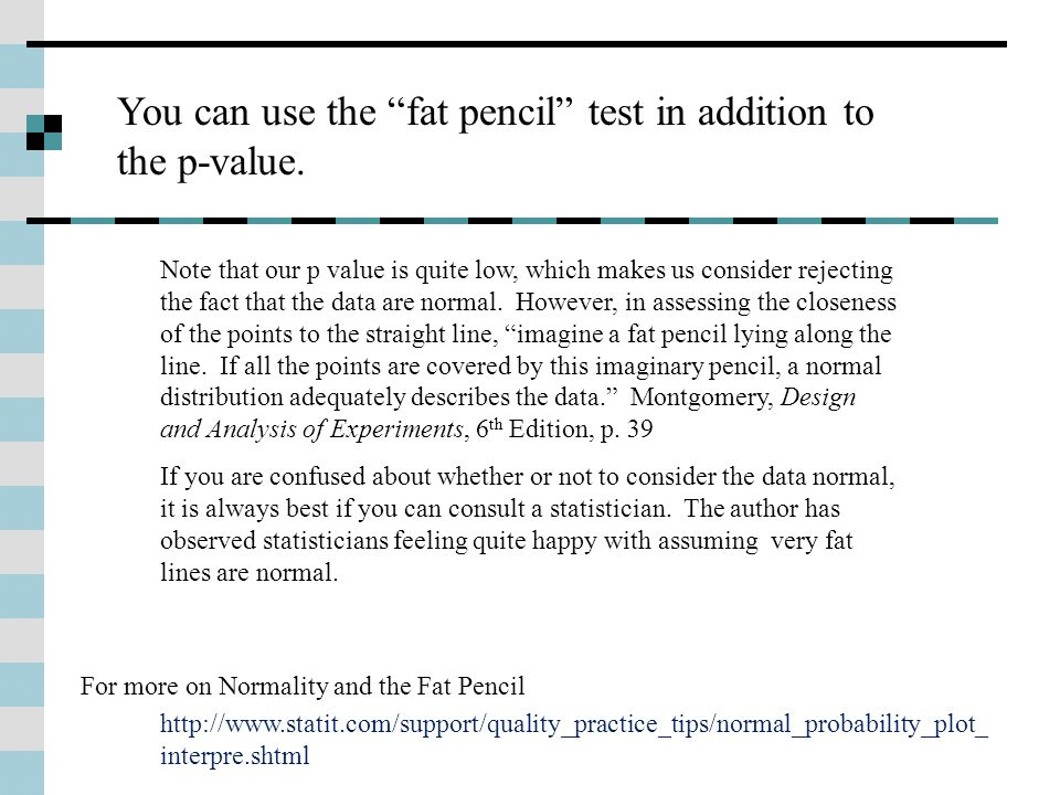 You can use the fat pencil test in addition to the p-value.