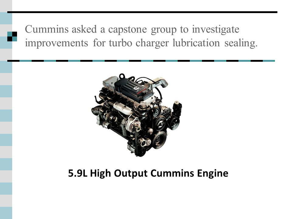 5.9L High Output Cummins Engine