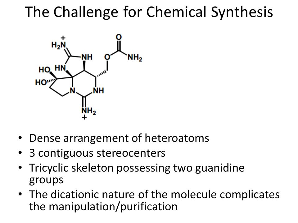 The Challenge for Chemical Synthesis