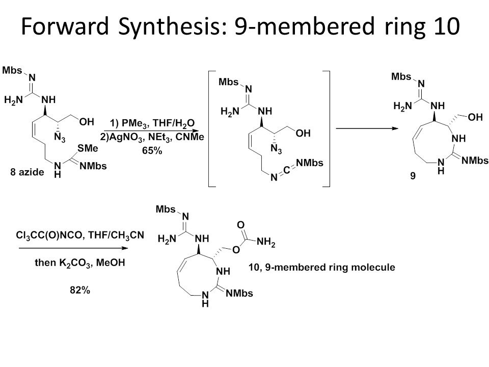Forward Synthesis: 9-membered ring 10
