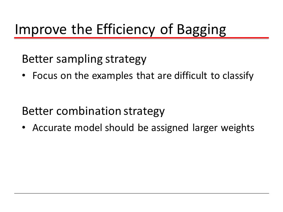 Improve the Efficiency of Bagging