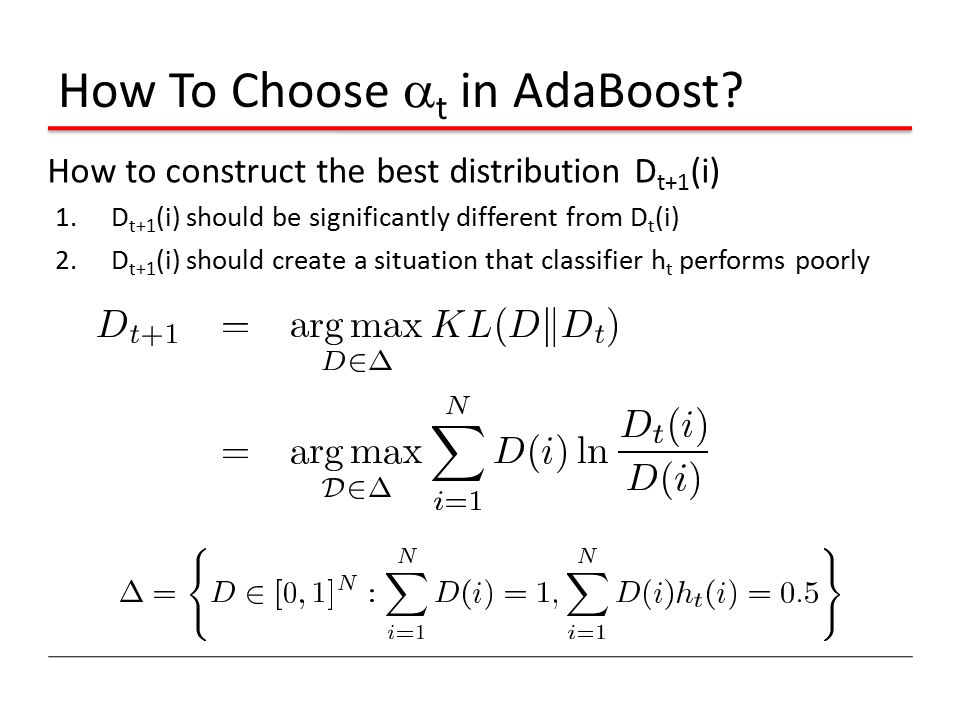 How To Choose t in AdaBoost