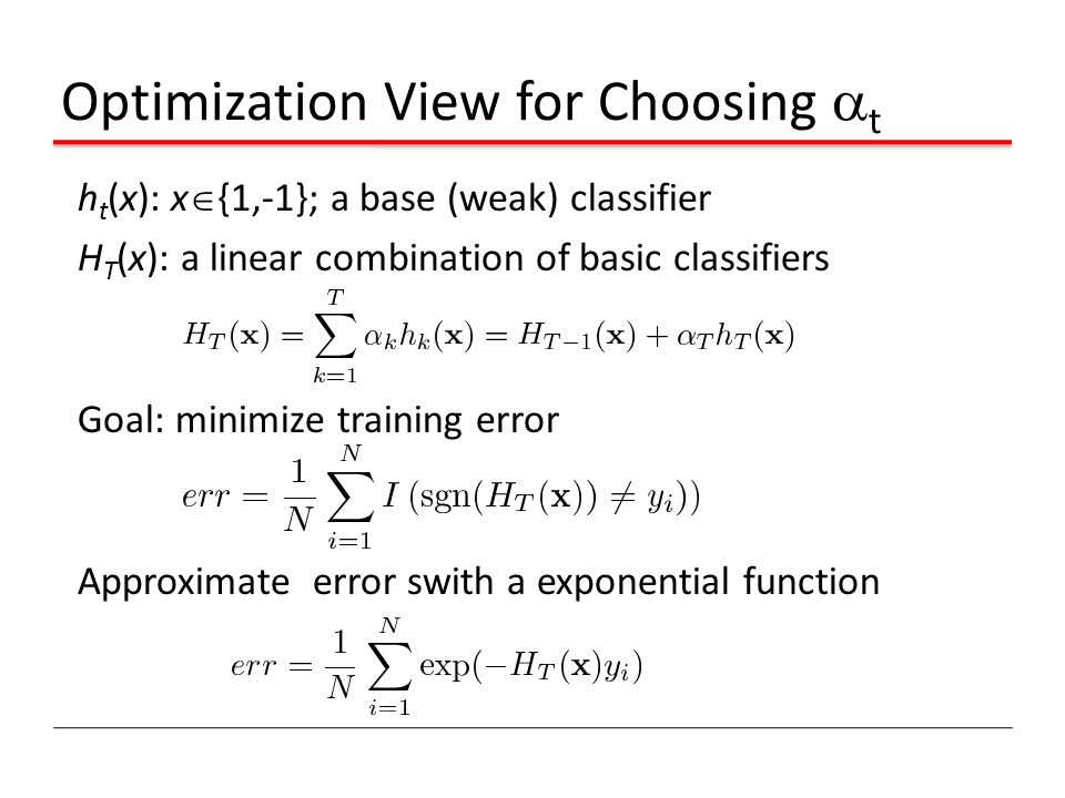 Optimization View for Choosing t