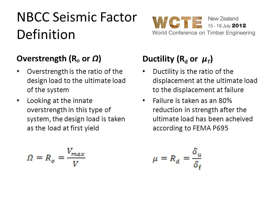NBCC Seismic Factor Definition