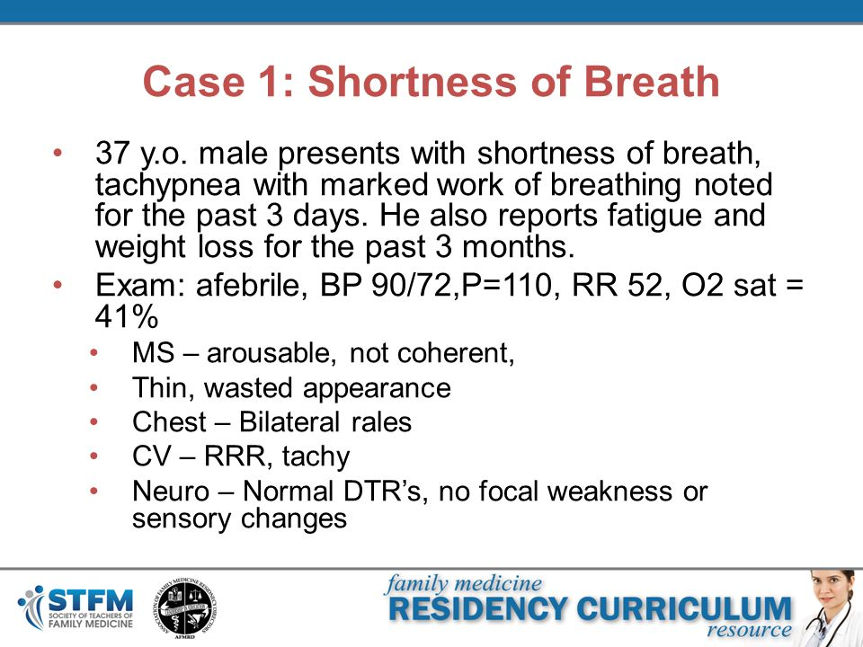Case 1: Shortness of Breath