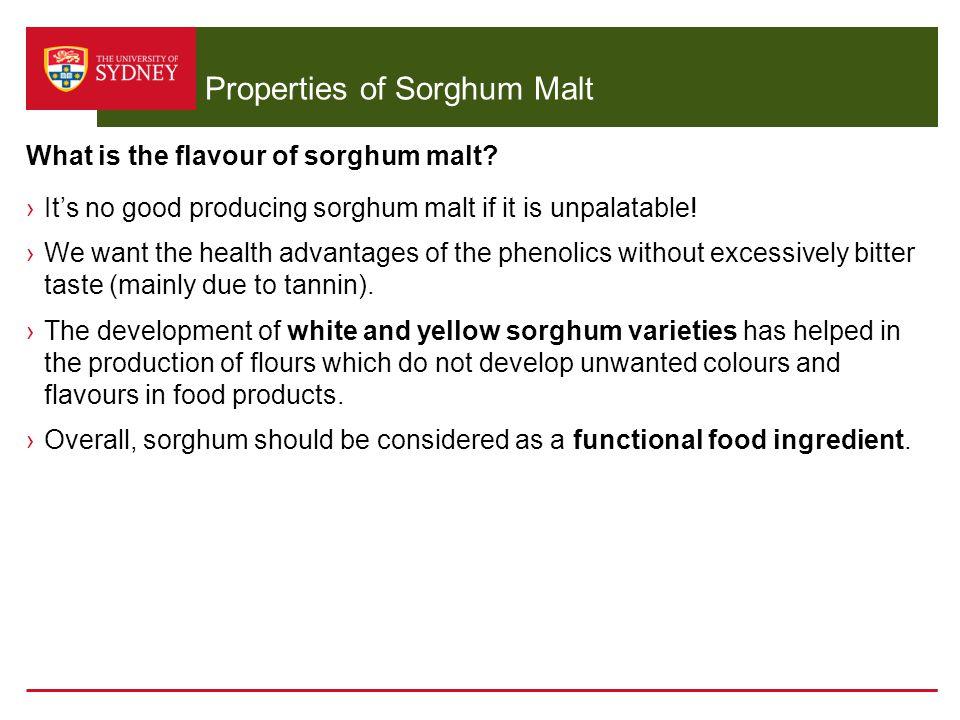 Properties of Sorghum Malt