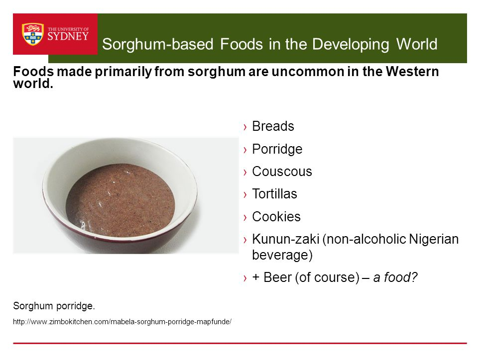 Sorghum-based Foods in the Developing World