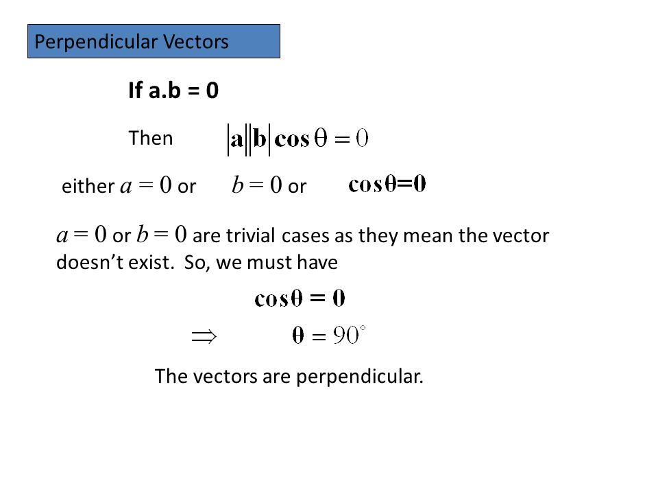 Perpendicular Vectors