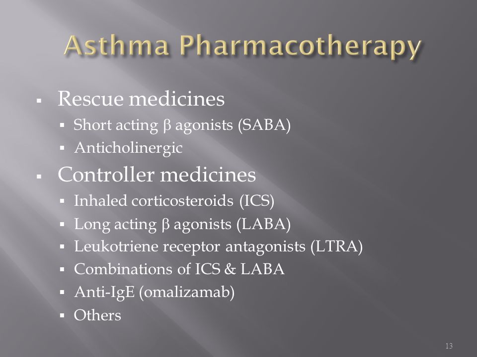 Asthma Pharmacotherapy